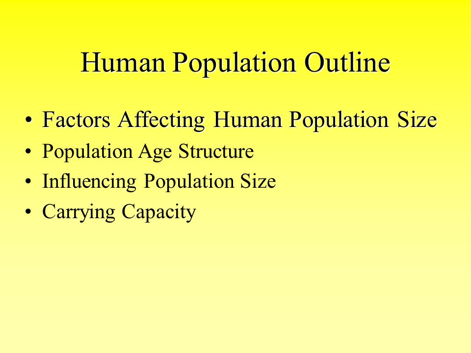 Human Population Outline