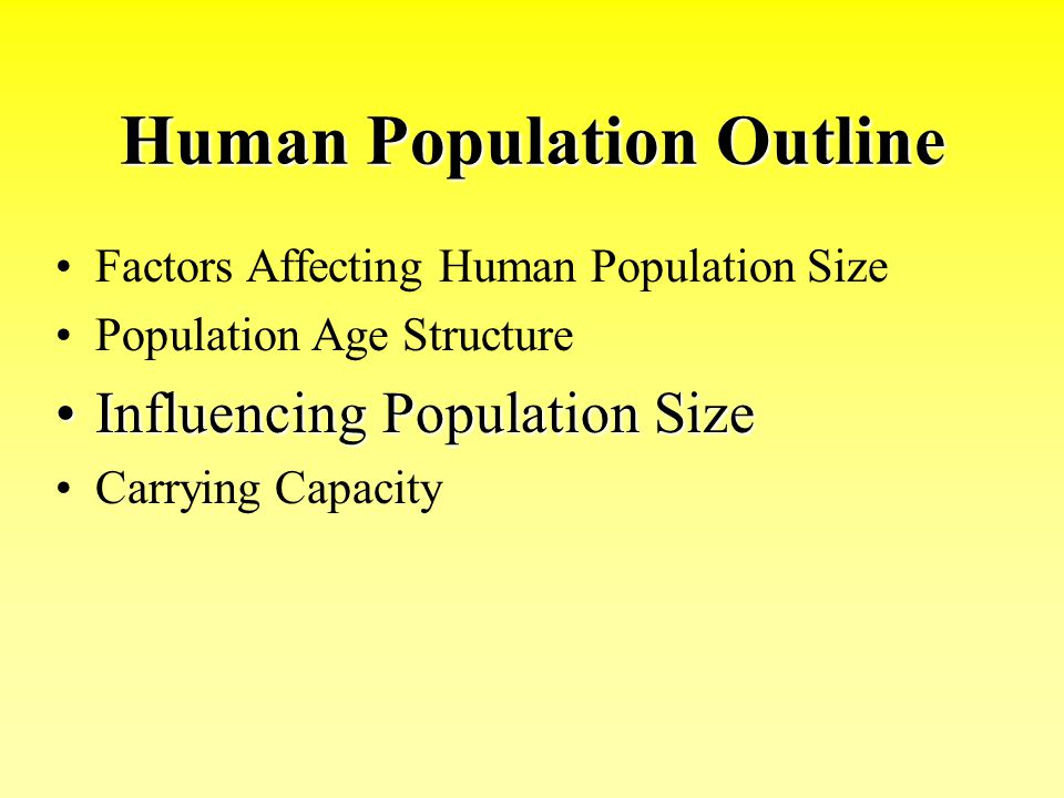 Human Population Outline