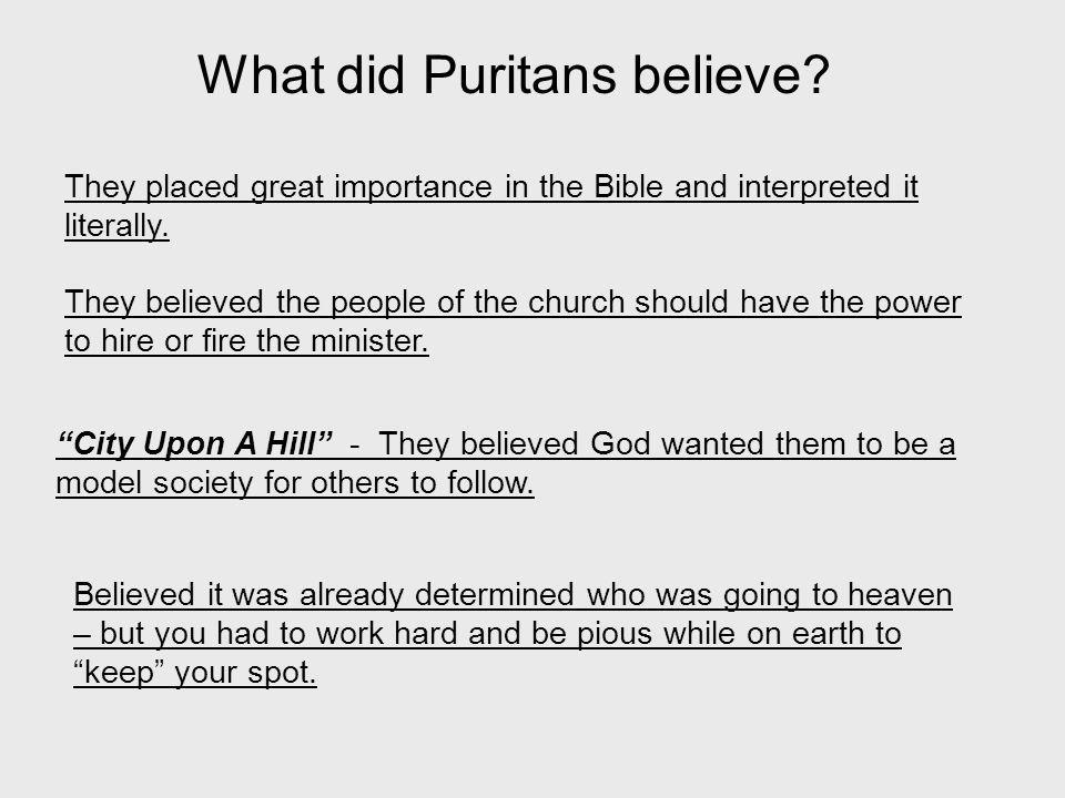 What did Puritans believe