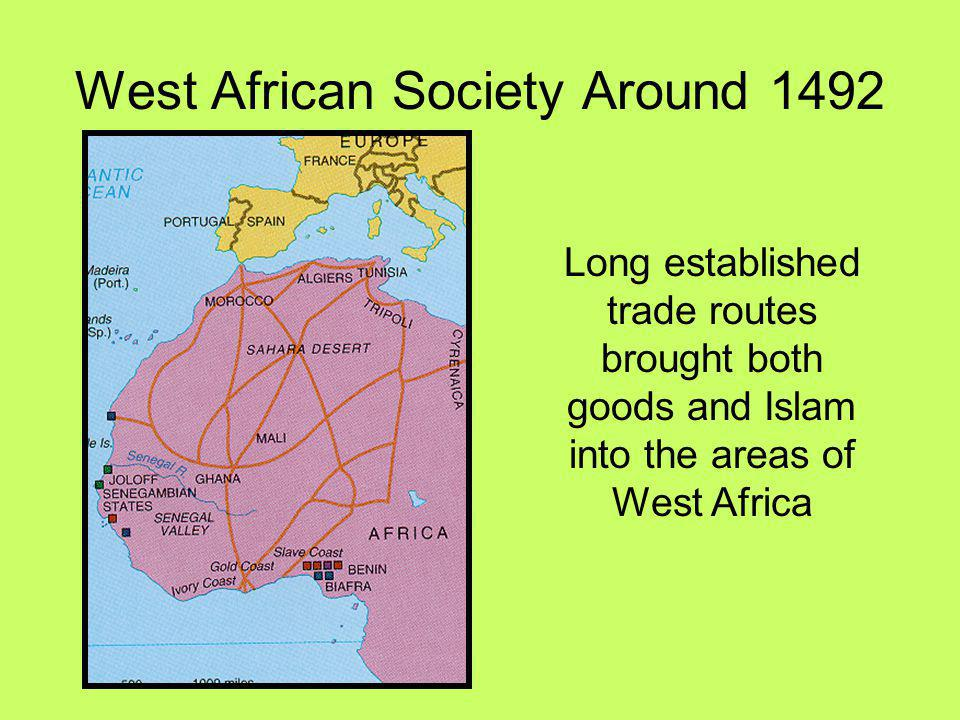 West African Society Around 1492