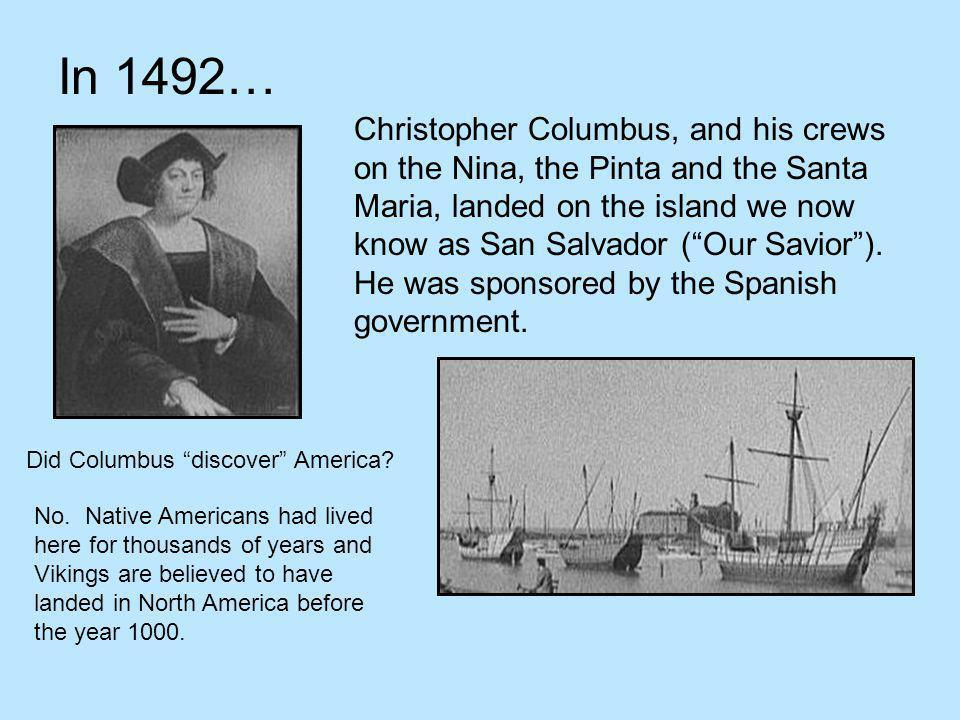 In 1492…