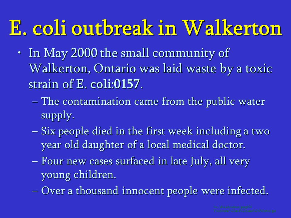 E. coli outbreak in Walkerton