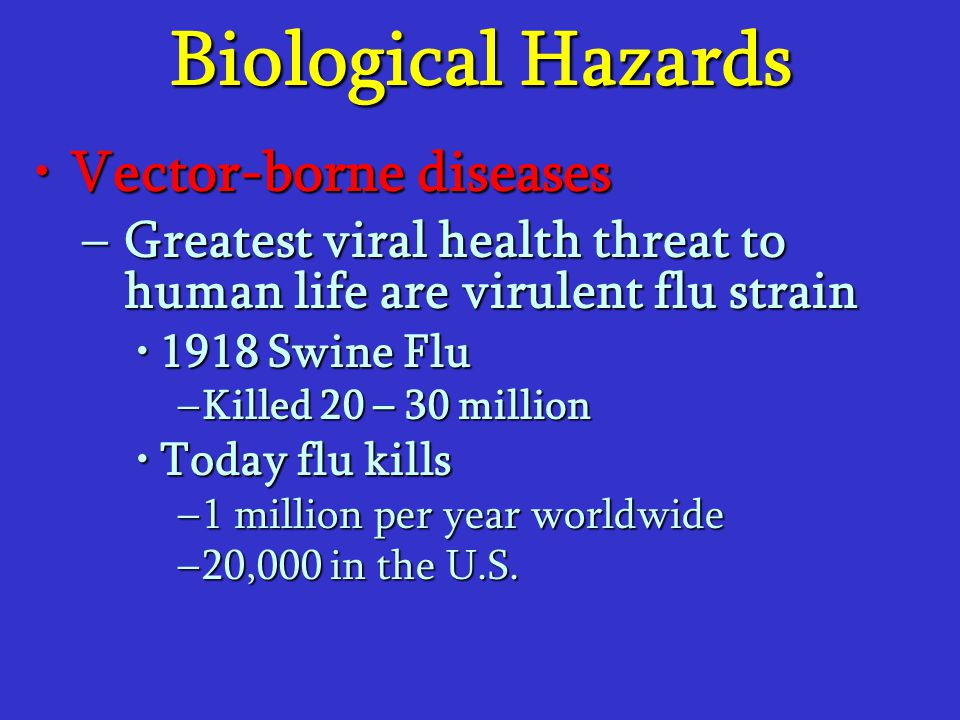 Biological Hazards Vector-borne diseases