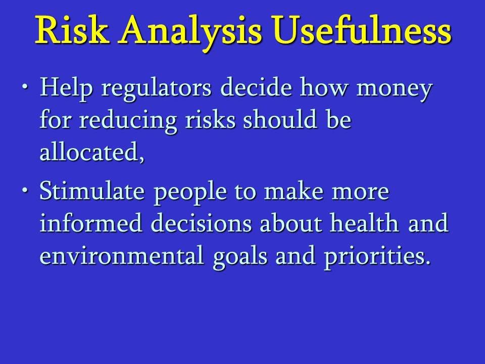 Risk Analysis Usefulness