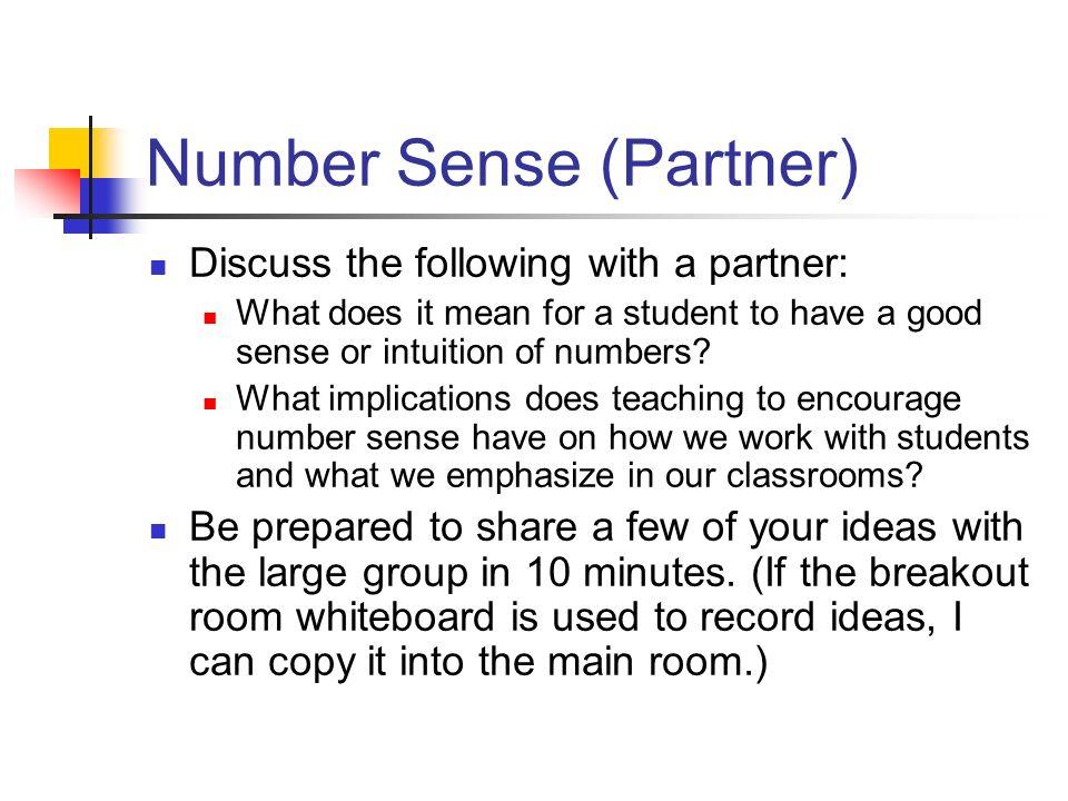 Number Sense (Partner)