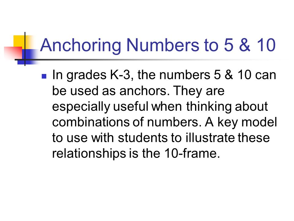 Anchoring Numbers to 5 & 10