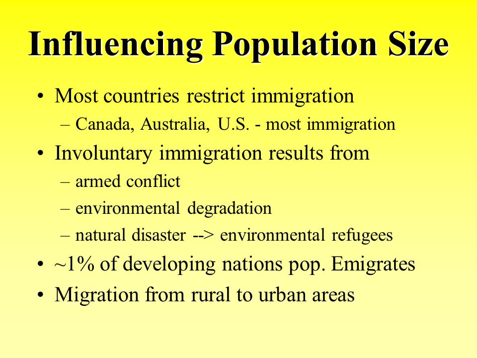 Influencing Population Size