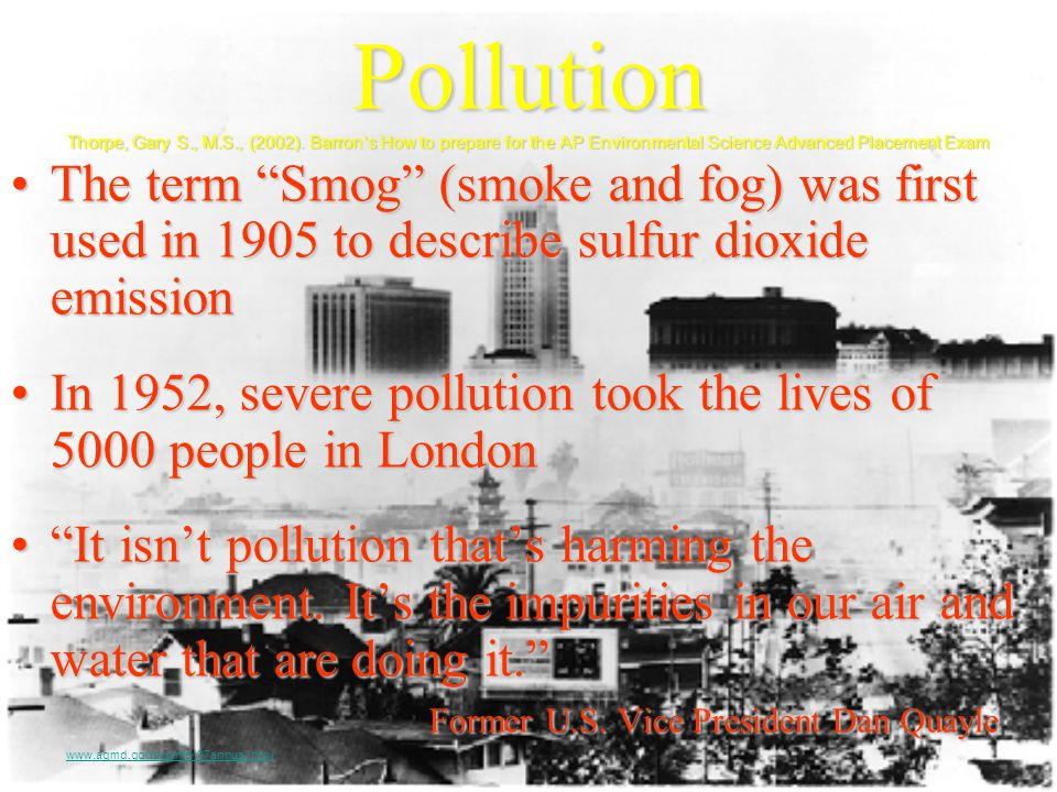 Pollution Thorpe, Gary S. , M. S. , (2002)