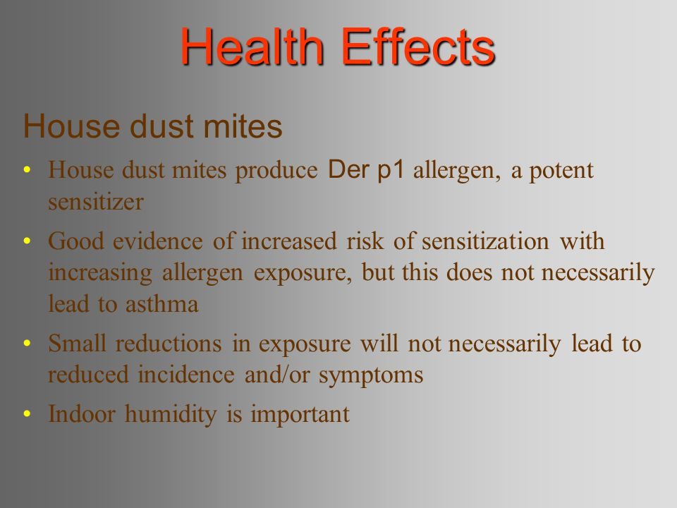 Health Effects House dust mites