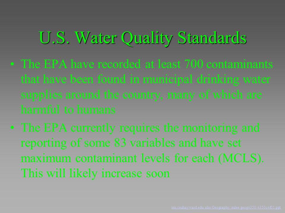 U.S. Water Quality Standards