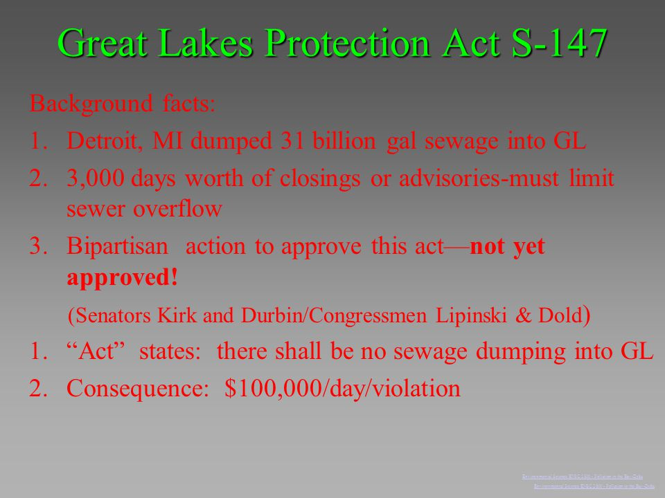 Great Lakes Protection Act S-147