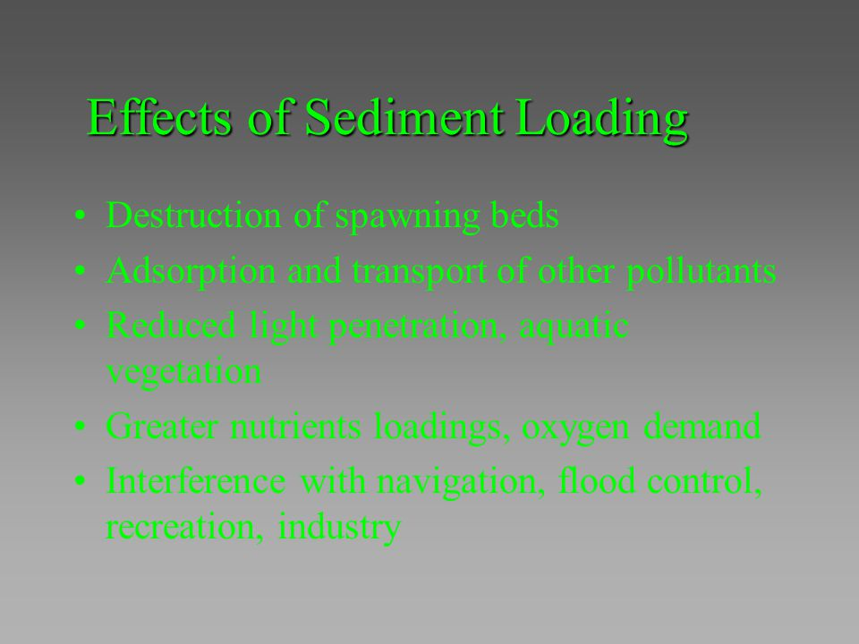 Effects of Sediment Loading