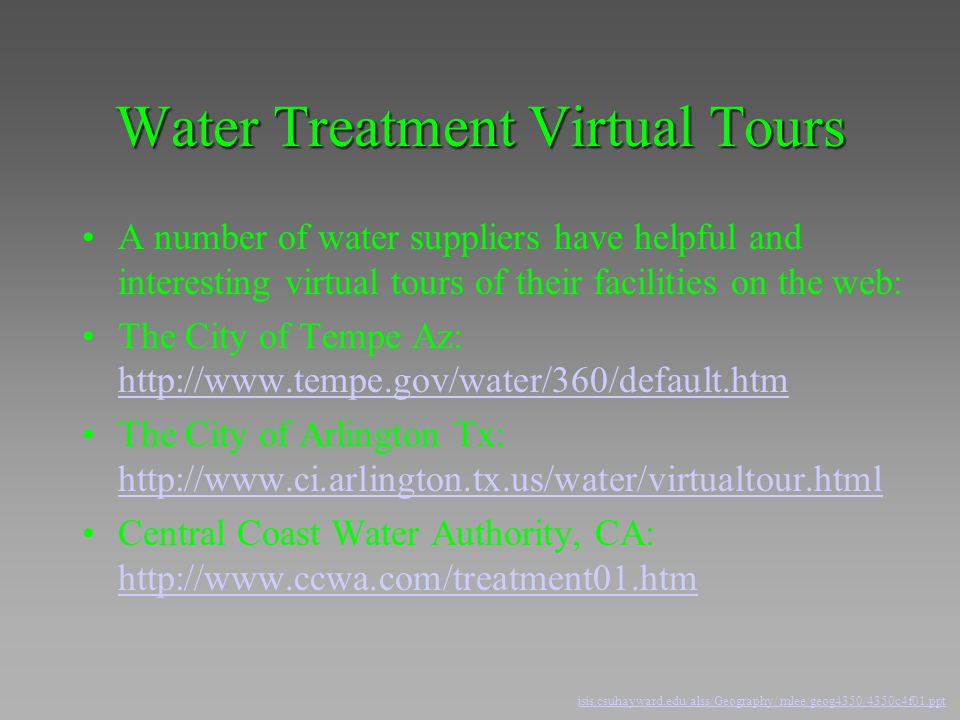 Water Treatment Virtual Tours
