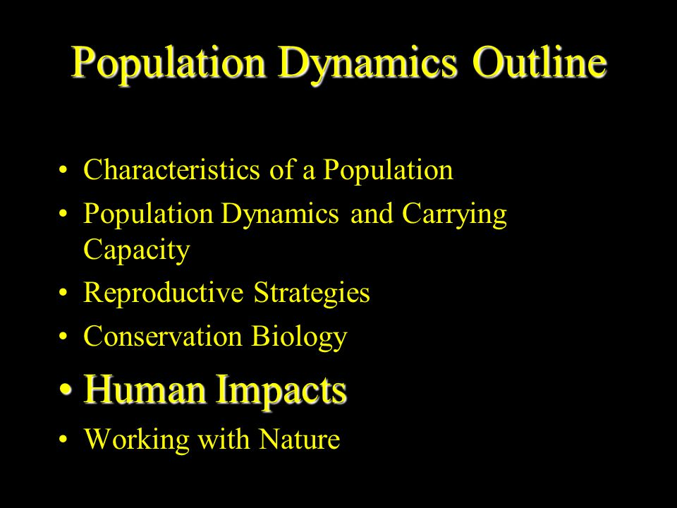 Population Dynamics Outline