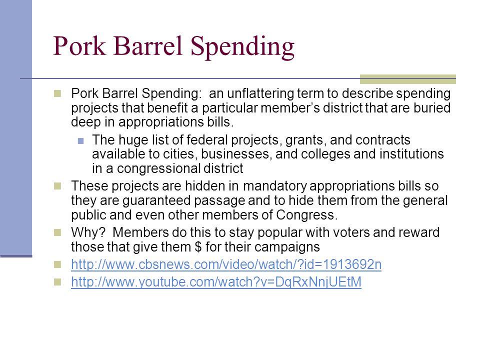 Pork Barrel Spending