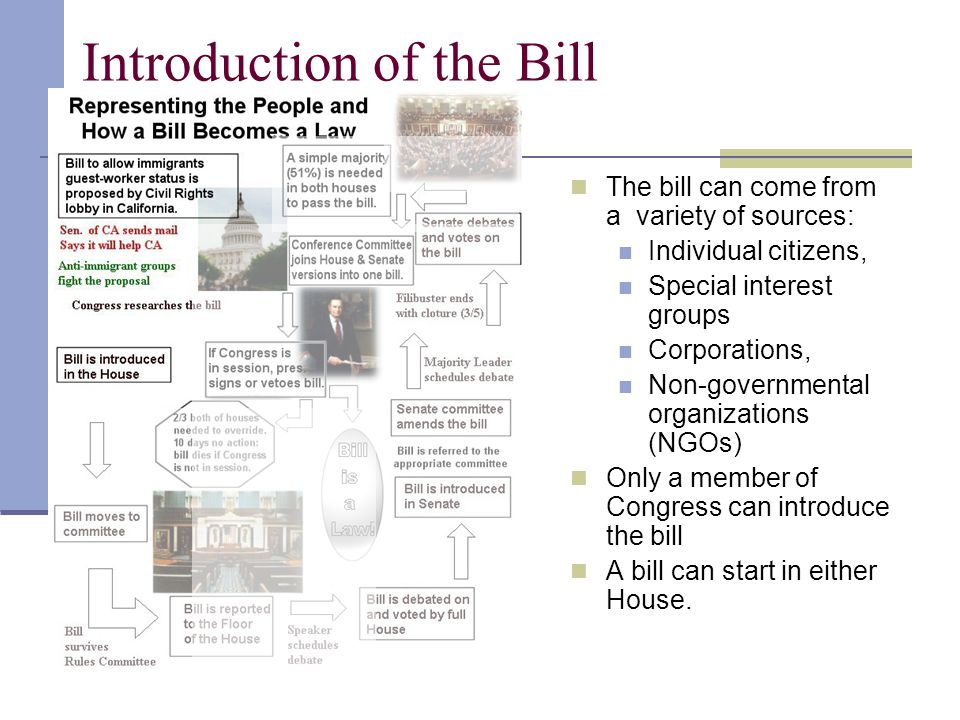 Introduction of the Bill