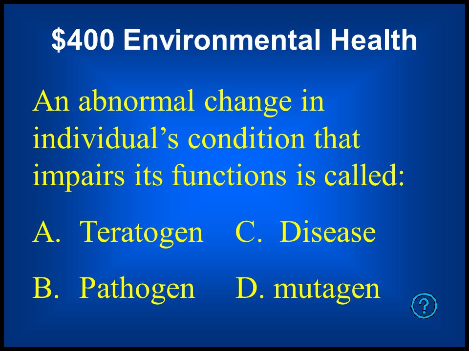 $400 Environmental Health