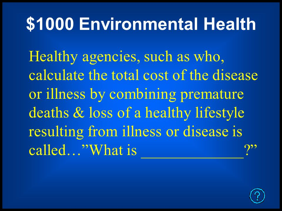 $1000 Environmental Health