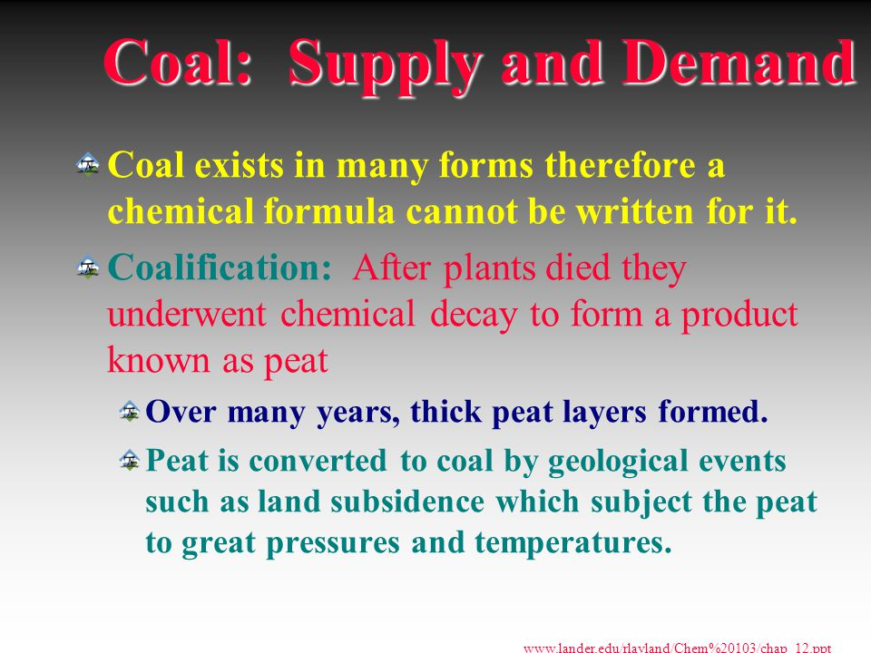 Coal: Supply and Demand