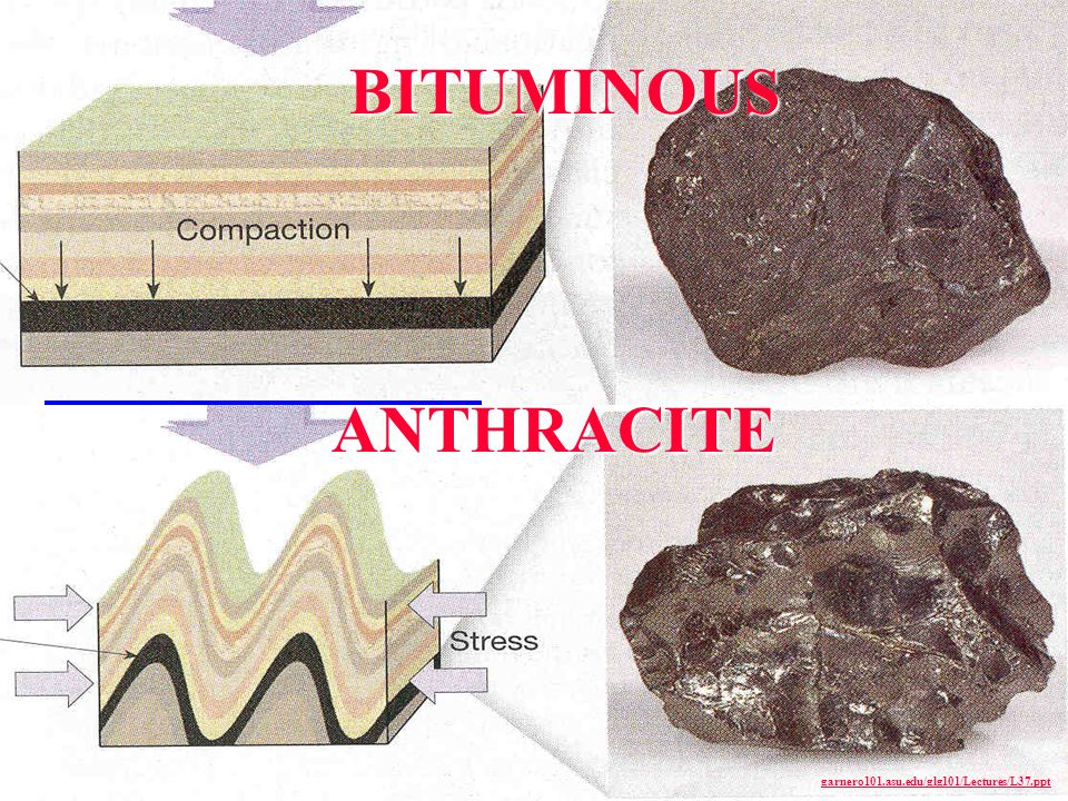 BITUMINOUS ANTHRACITE garnero101.asu.edu/glg101/Lectures/L37.ppt