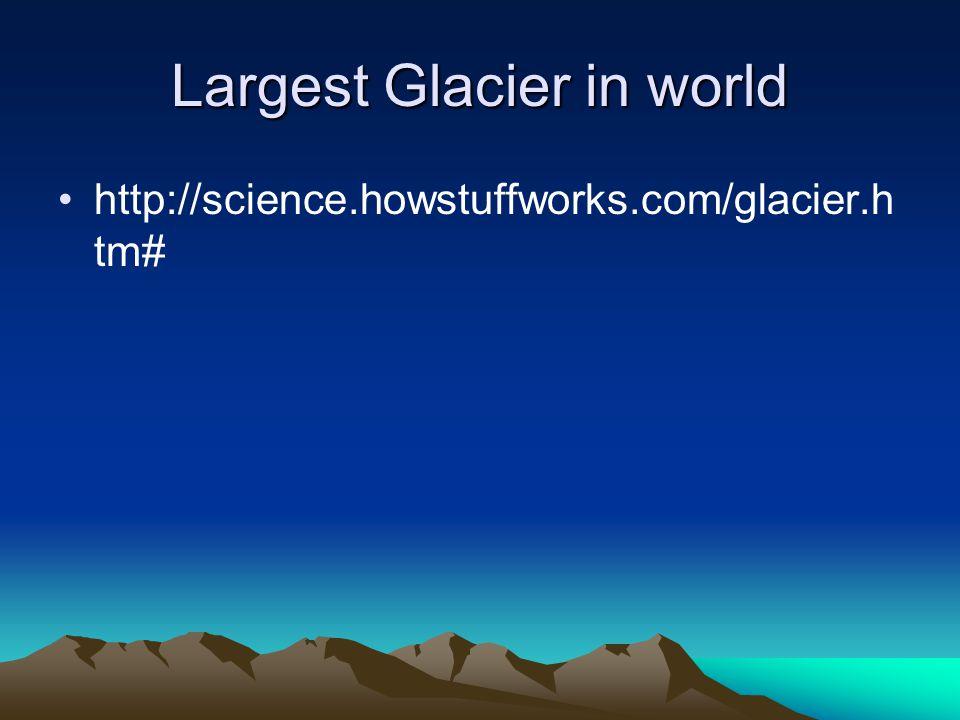 Largest Glacier in world