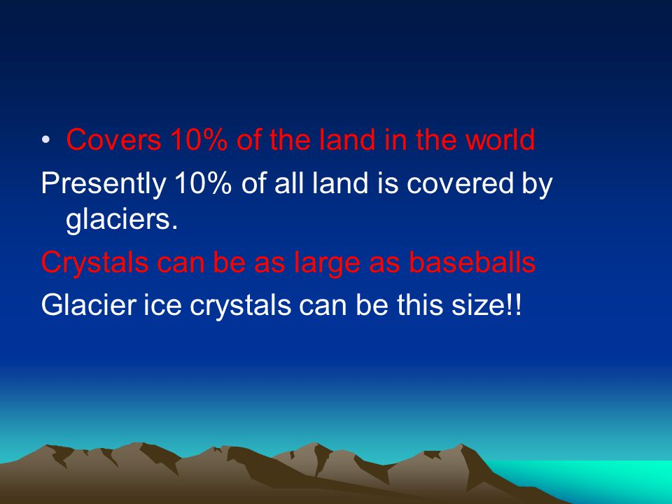 Covers 10% of the land in the world