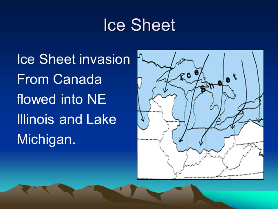 Ice Sheet Ice Sheet invasion From Canada flowed into NE