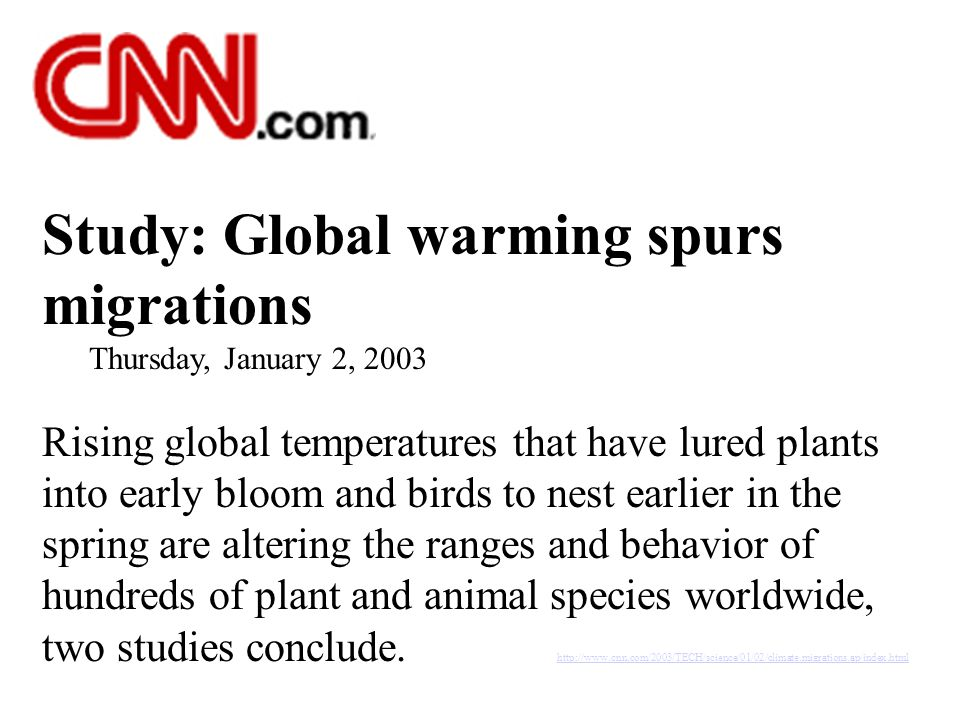 Study: Global warming spurs migrations