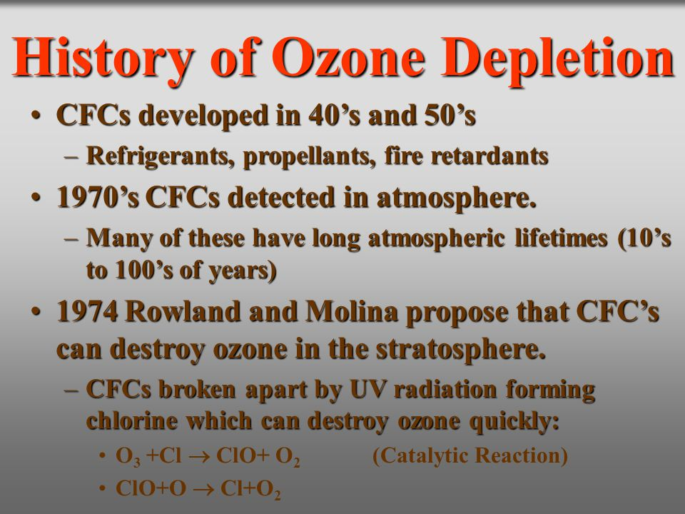 History of Ozone Depletion