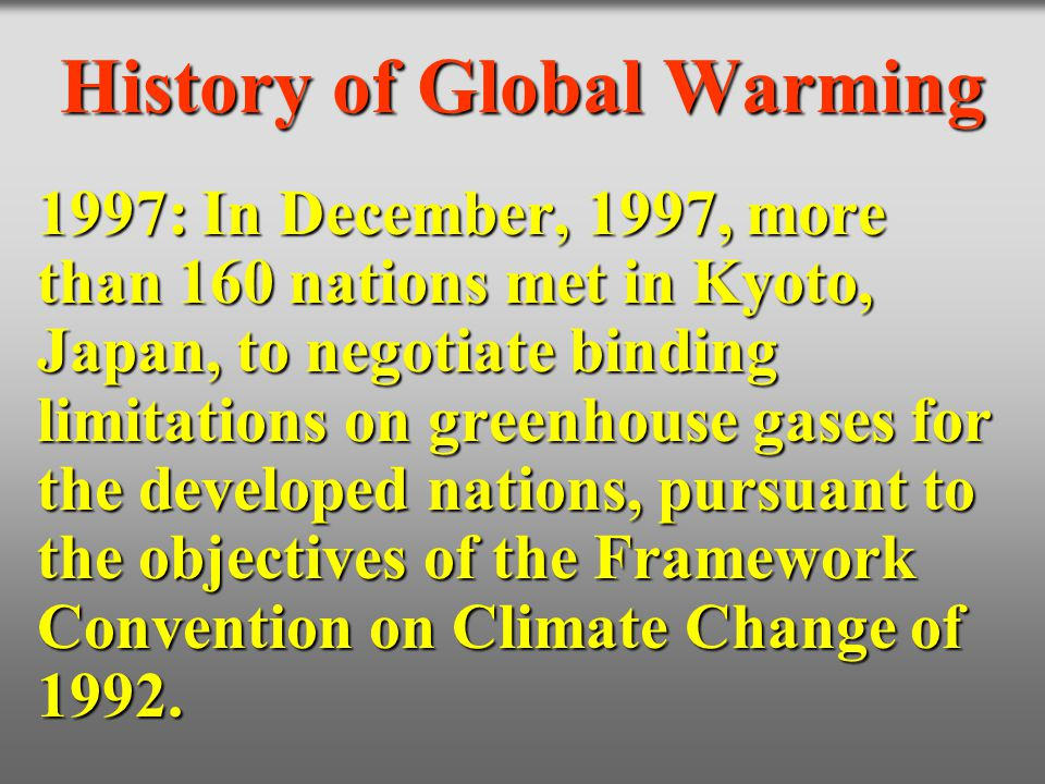 History of Global Warming