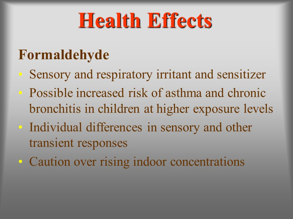 Health Effects Formaldehyde