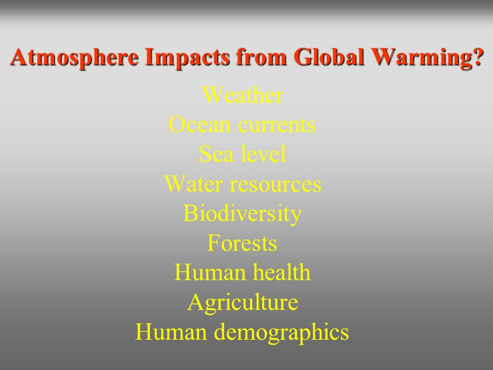 Atmosphere Impacts from Global Warming
