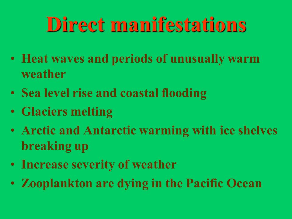 Direct manifestations