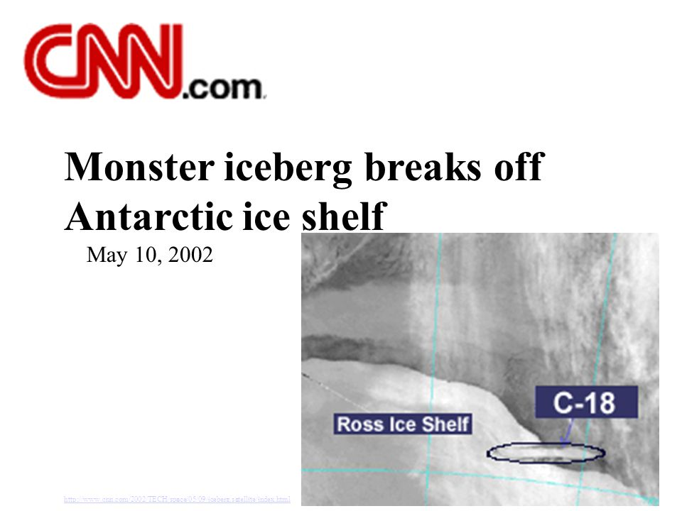 Monster iceberg breaks off Antarctic ice shelf