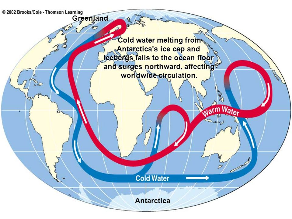 Cold water melting from Antarctica s ice cap and