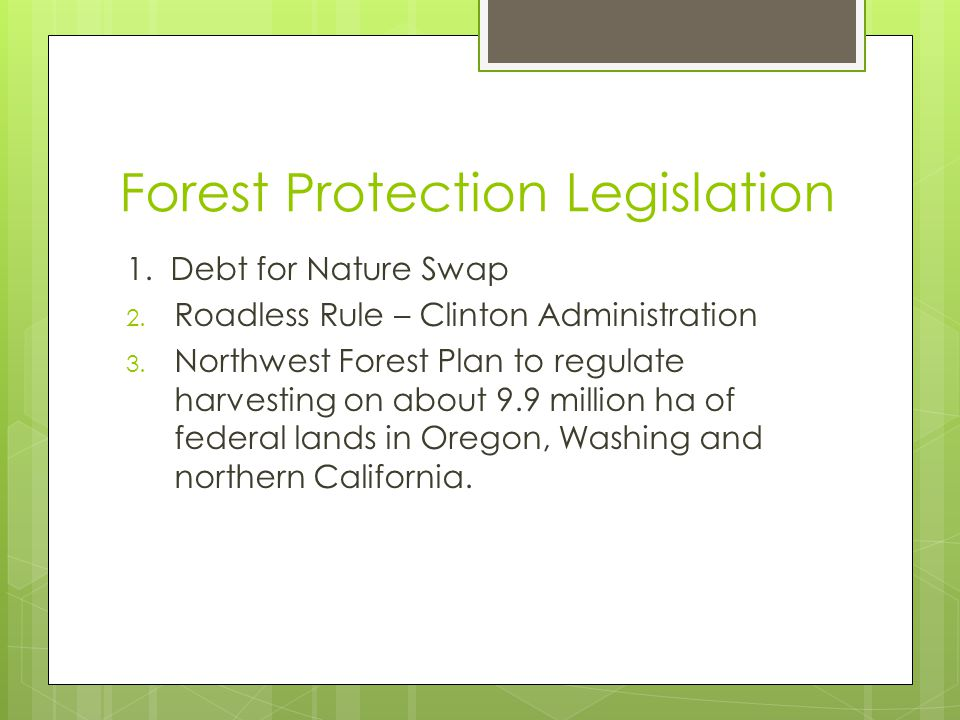 Forest Protection Legislation
