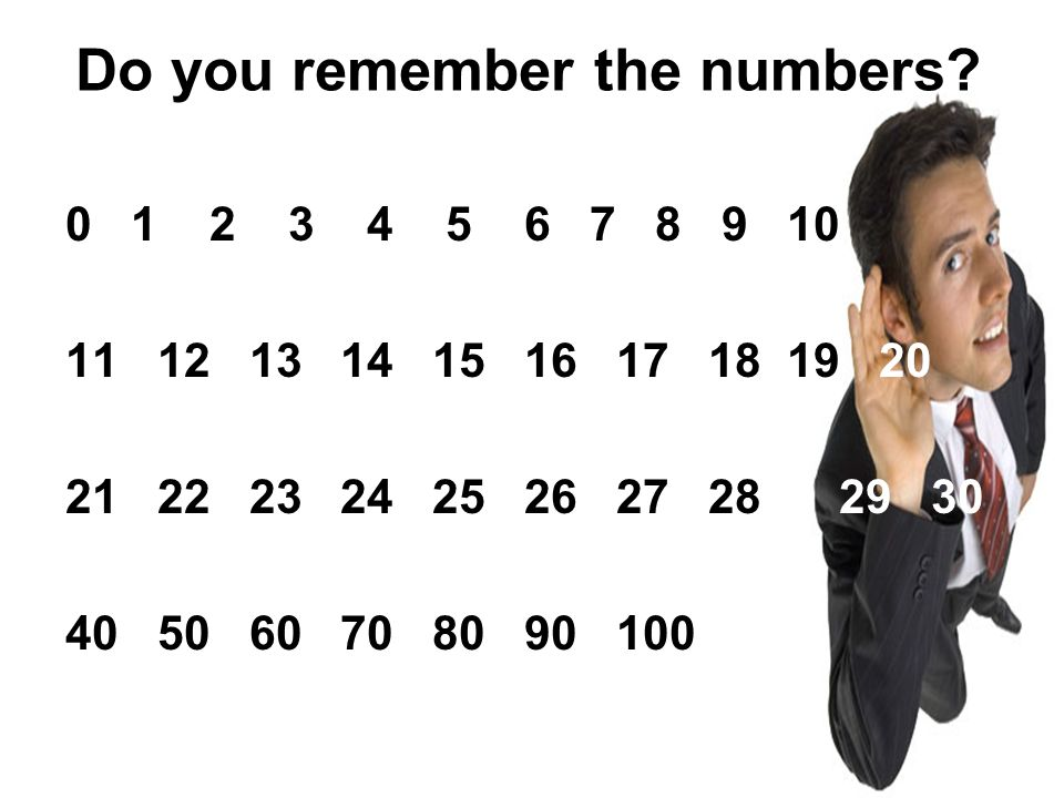 Do you remember the numbers