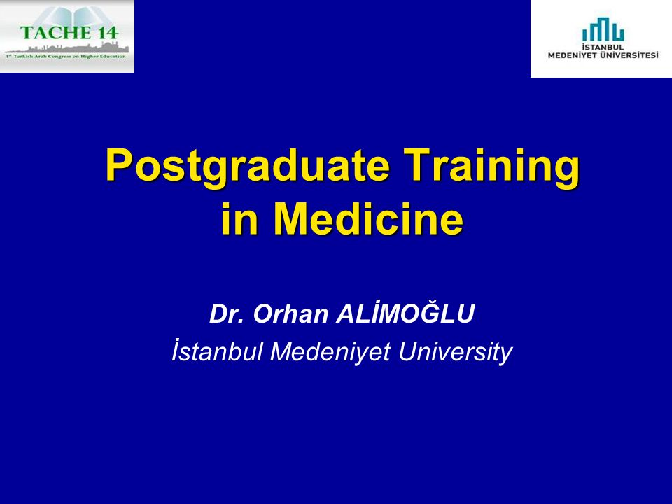 Postgraduate Training in Medicine