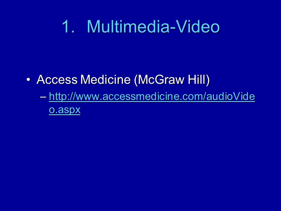Multimedia-Video Access Medicine (McGraw Hill)