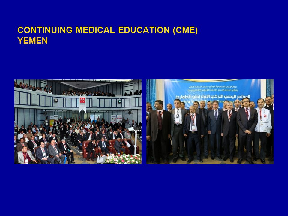 CONTINUING MEDICAL EDUCATION (CME) YEMEN