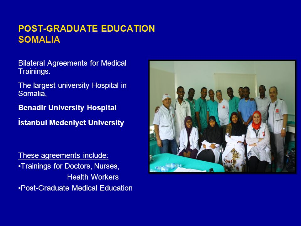 POST-GRADUATE EDUCATION SOMALIA