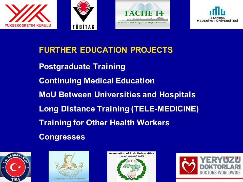 FURTHER EDUCATION PROJECTS