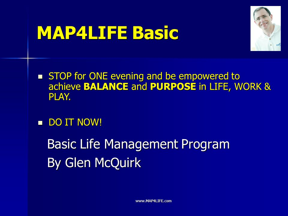 Basic Life Management Program By Glen McQuirk