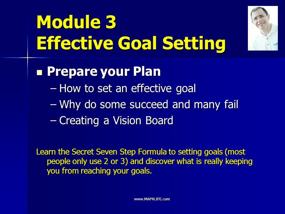Module 3 Effective Goal Setting