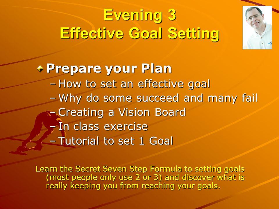 Evening 3 Effective Goal Setting