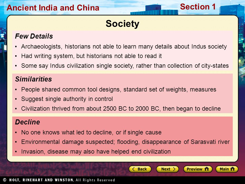 Society Few Details Similarities Decline