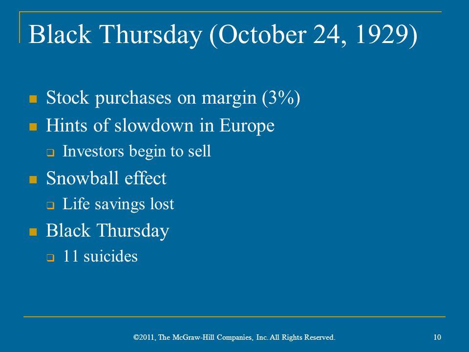 Black Thursday (October 24, 1929)