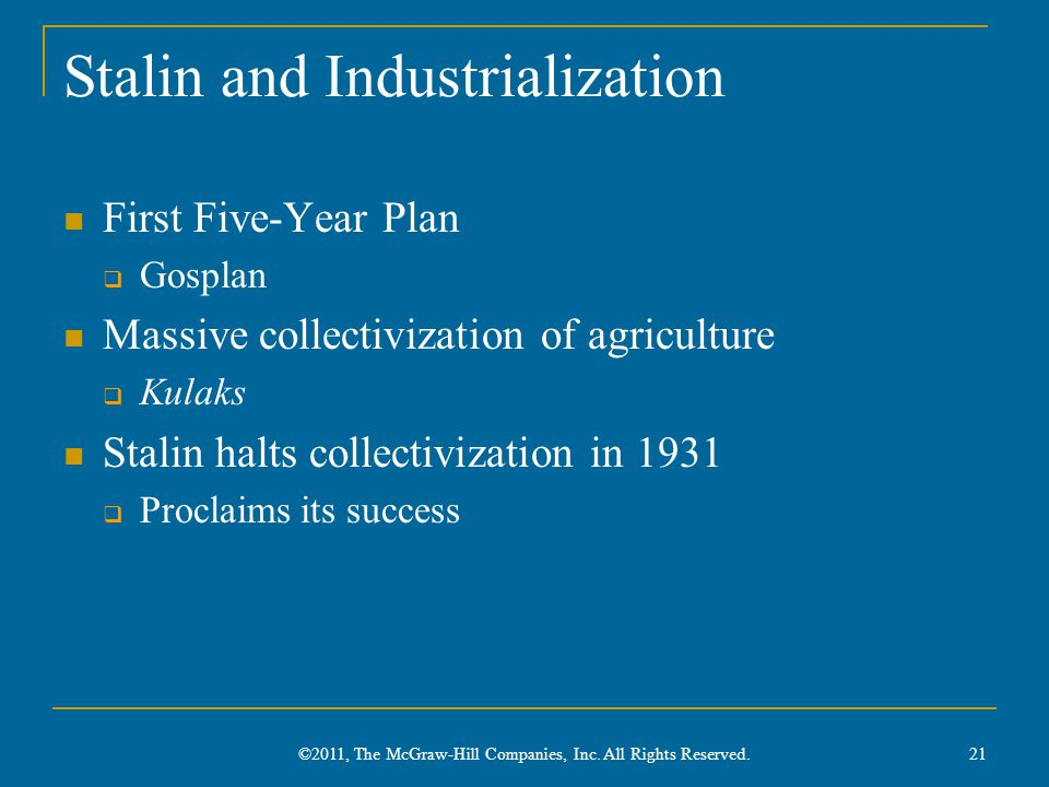 Stalin and Industrialization