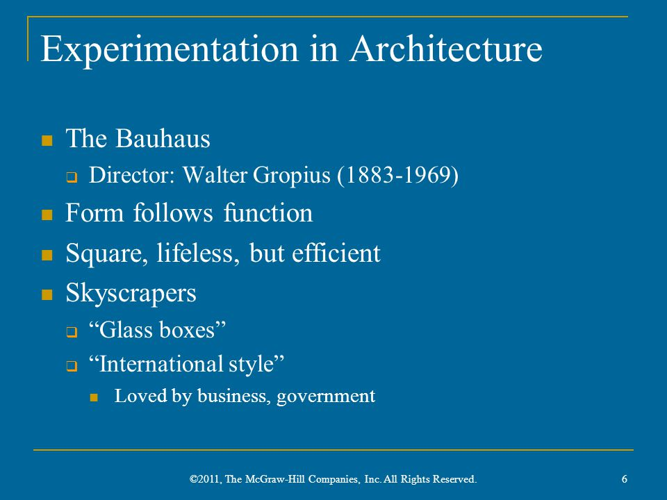 Experimentation in Architecture
