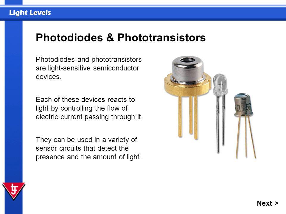 Photodiodes & Phototransistors